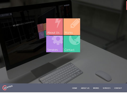 Collection Of Trendy Flat Portfolio Website Templates ( HTML5/CSS3 ...