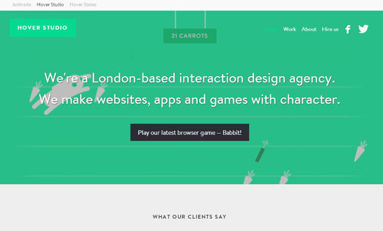 flat green color websites