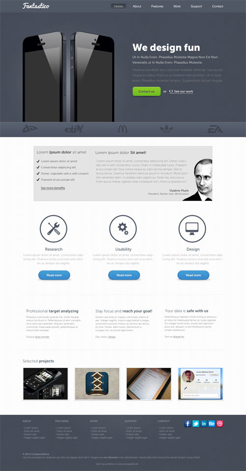free website psd