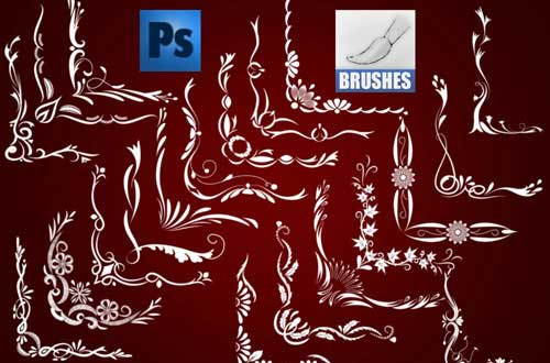 photoshop corner brushes