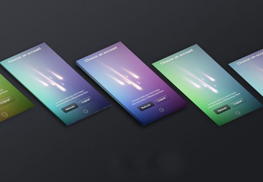 free perspective screen mockup for app design