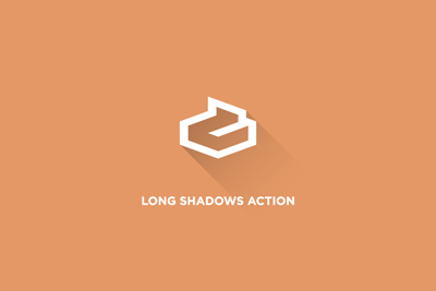 long shadow photoshop action