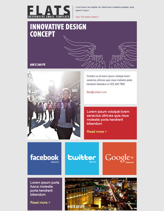 Best Flat Style Responsive Email Templates Designbeep - How to design an email template