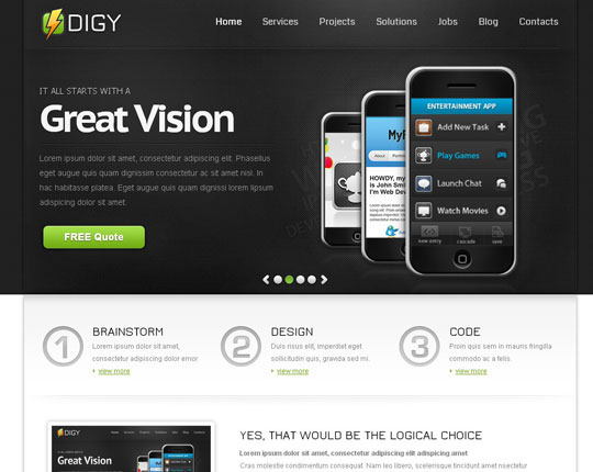 100 absolutely free responsive html5 css3 website templates designbeep
