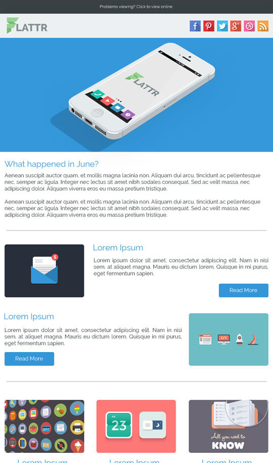 Best Flat Style Responsive Email Templates  Designbeep