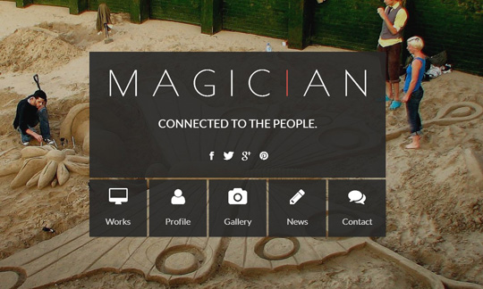 wp theme of the day 43 magician responsive parallax wordpress