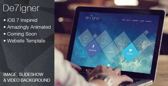 WP Theme Of the Day #56 – De7igner – Flat iOS7 Inspired OnePage Parallax Theme