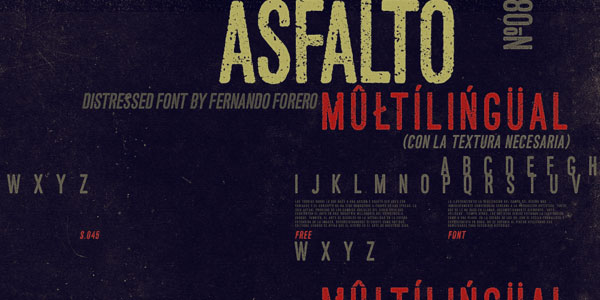 Free Font Of The Day Asfalto