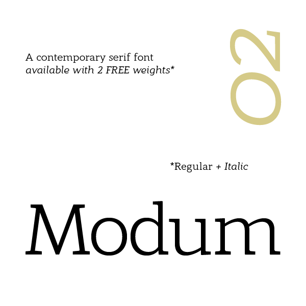 Free Font Of The Day  Modum