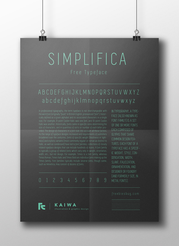 18.Free Font Of The Day  Simplifica