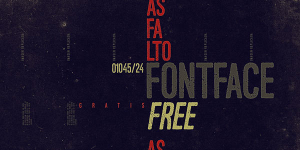 2.Free Font Of The Day  Asfalto