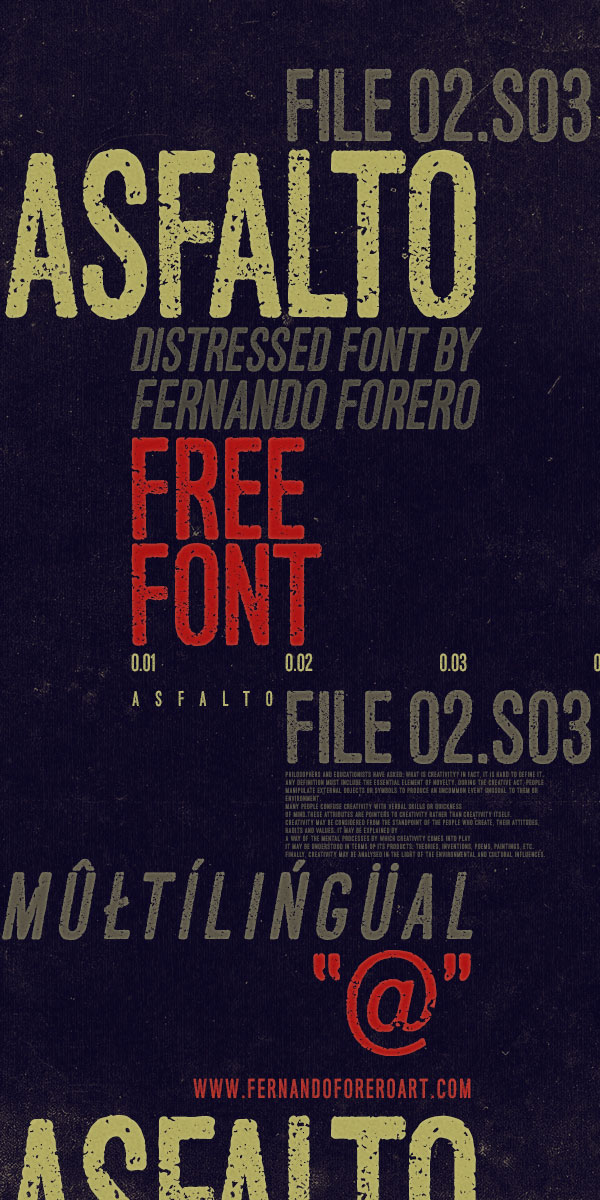 5.Free Font Of The Day  Asfalto