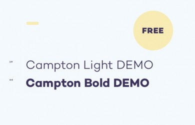 Free Font Of The Day  Campton (light and bold)
