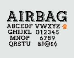 1.Free Font Of The Day  Airbag