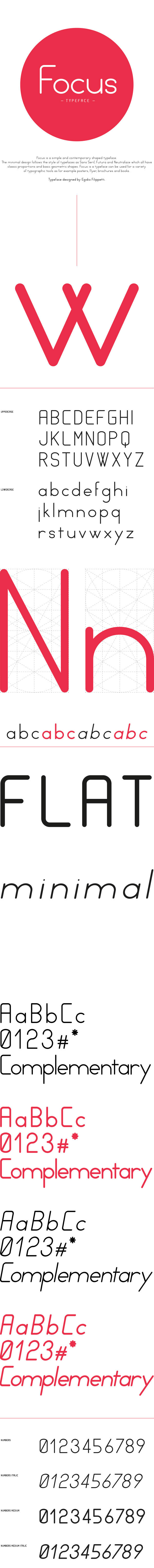 1.Free Font Of The Day  Focus