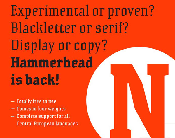 Free Font Of The Day  Hammerhead
