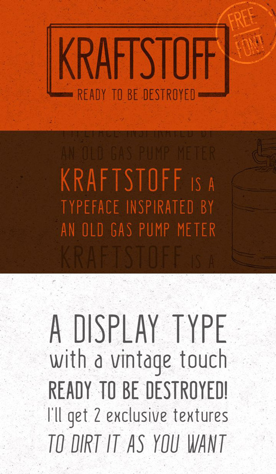 1.Free Font Of The Day  Kraftstoff