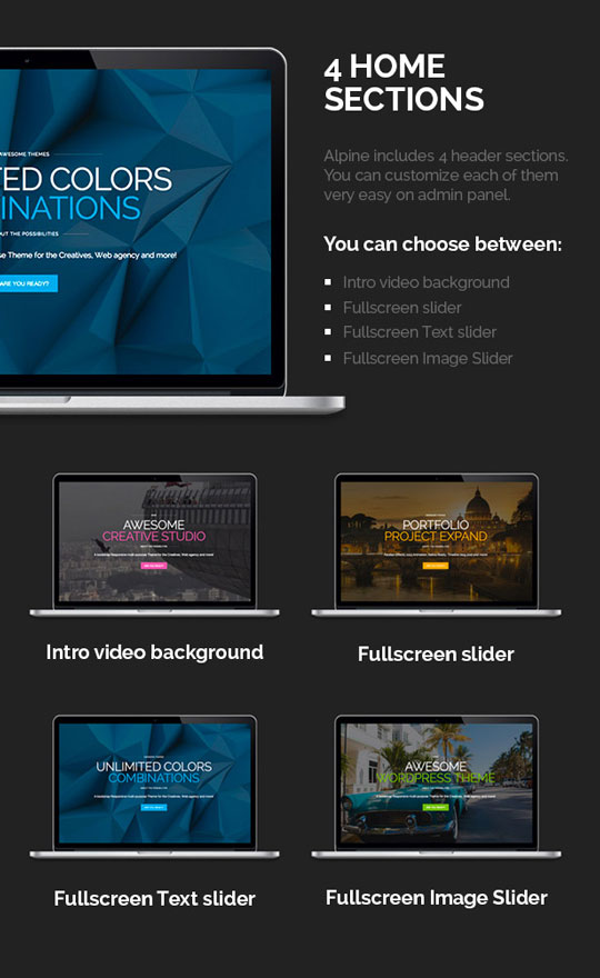 Responsive One Page Parallax WordPress Theme