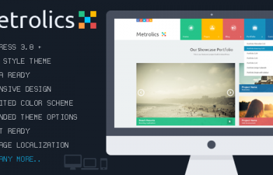 Responsive Metro WordPress Theme