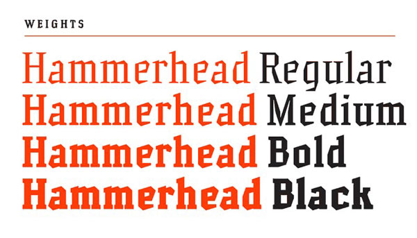 2.Free Font Of The Day  Hammerhead