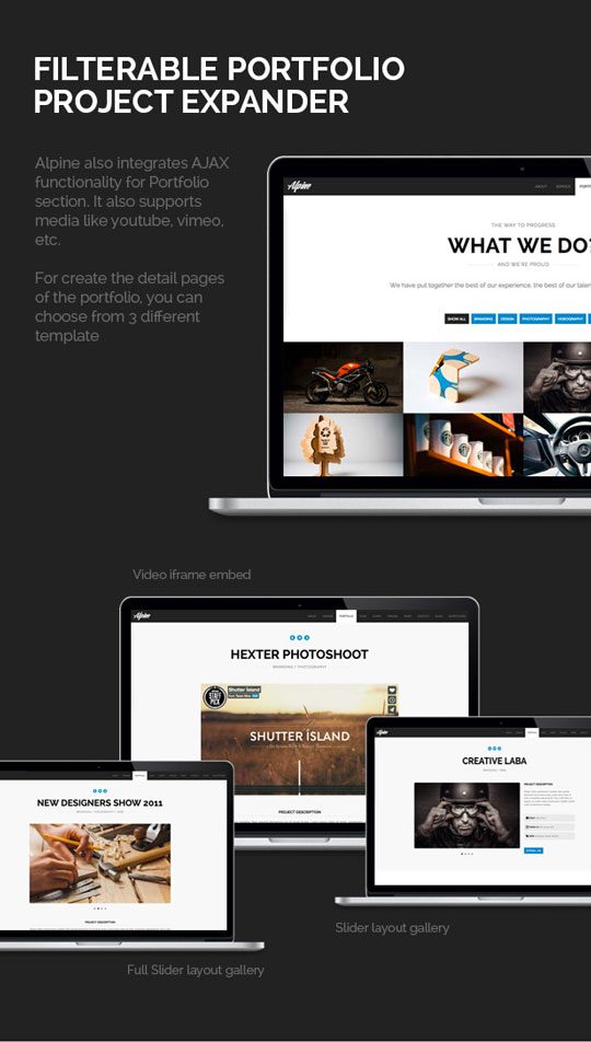 3.Responsive One Page Parallax WordPress Theme