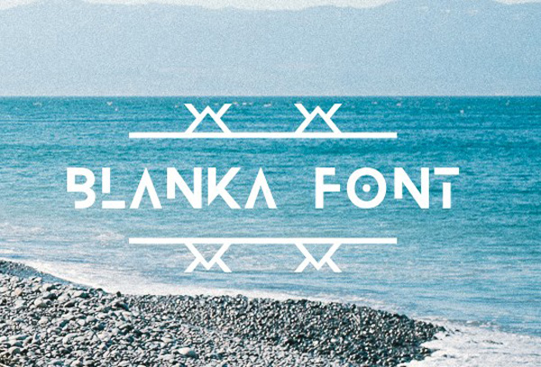 6.Free Font Of The Day  Blanka