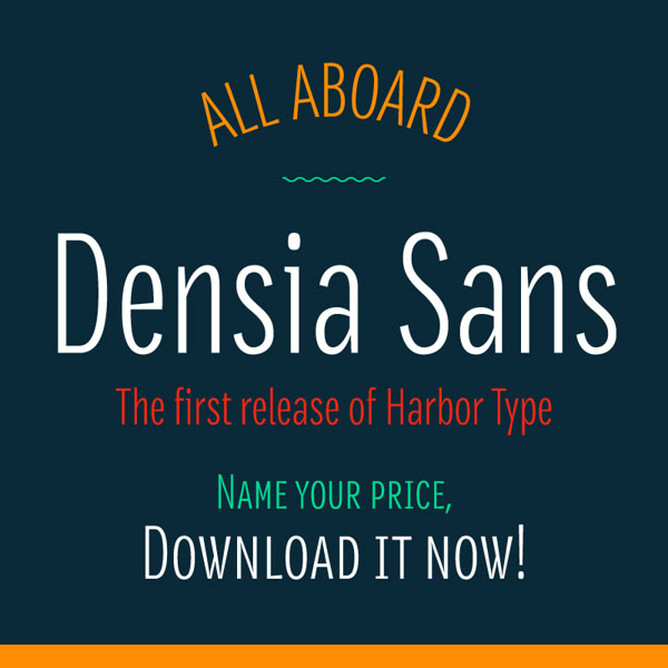 Free Font Of The Day  Densia Sans