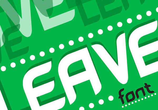 free font of the day leave