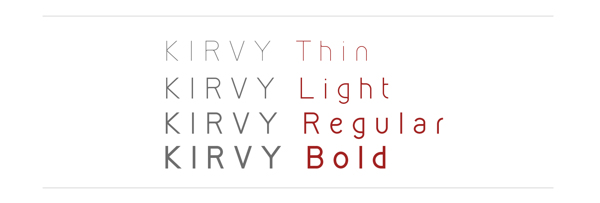 3.Free Font Of The Day  KIRVY