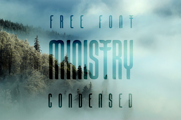 5.Free Font Of The Day  Ministry