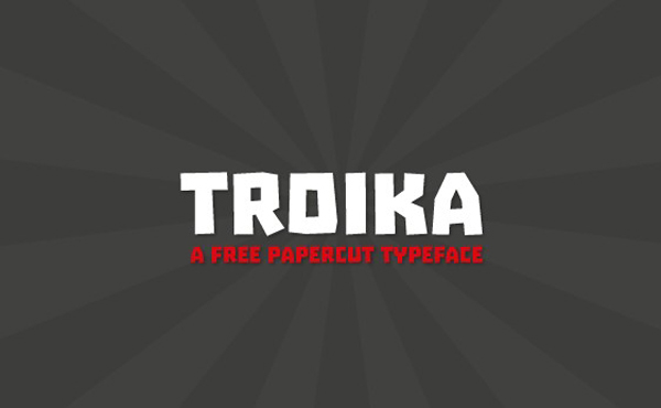 Free Font Of The Day  Troika
