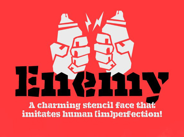1.Free Font Of The Day  Enemy