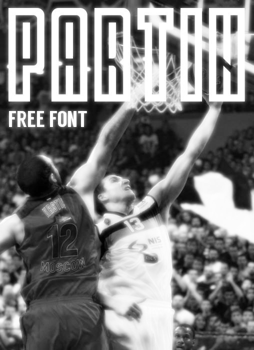 1.Free Font Of The Day  Partin