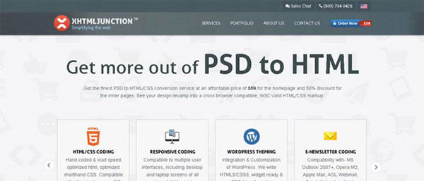 10. PSD To HTML Services