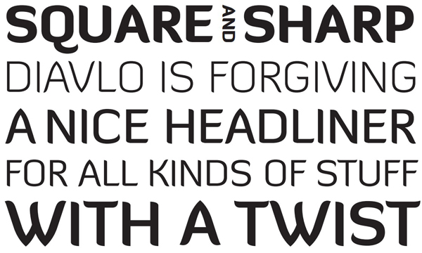3.free font of the day diavlo