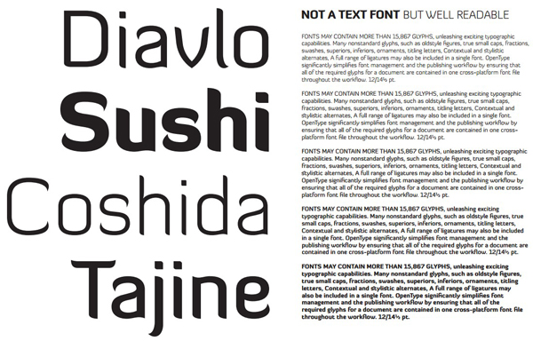 4.free font of the day diavlo