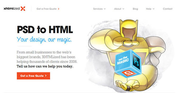 7. PSD To HTML Services