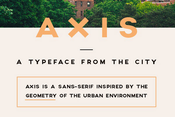 1.Free Font Of The Day  Axis