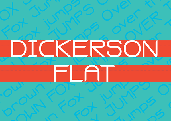 1.Free Font Of The Day  Dickerson Flat