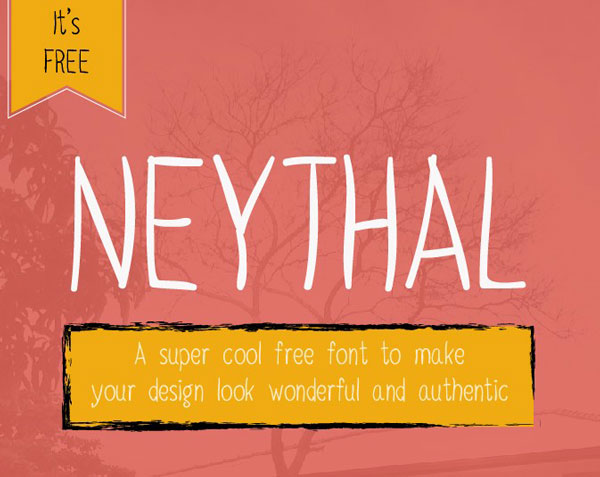 1.Free Font Of The Day  Neythal