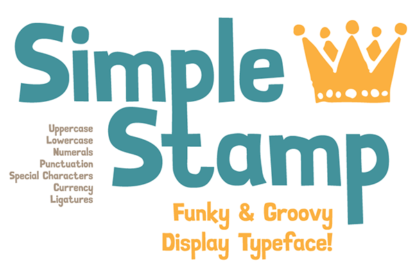 1.Free Font Of The Day  Simple Stamp