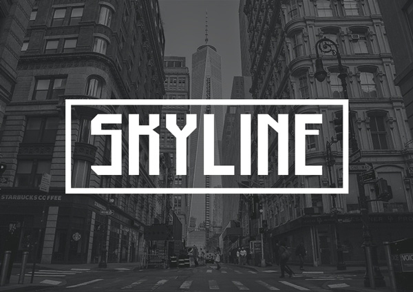 1.Free Font Of The Day  Skyline