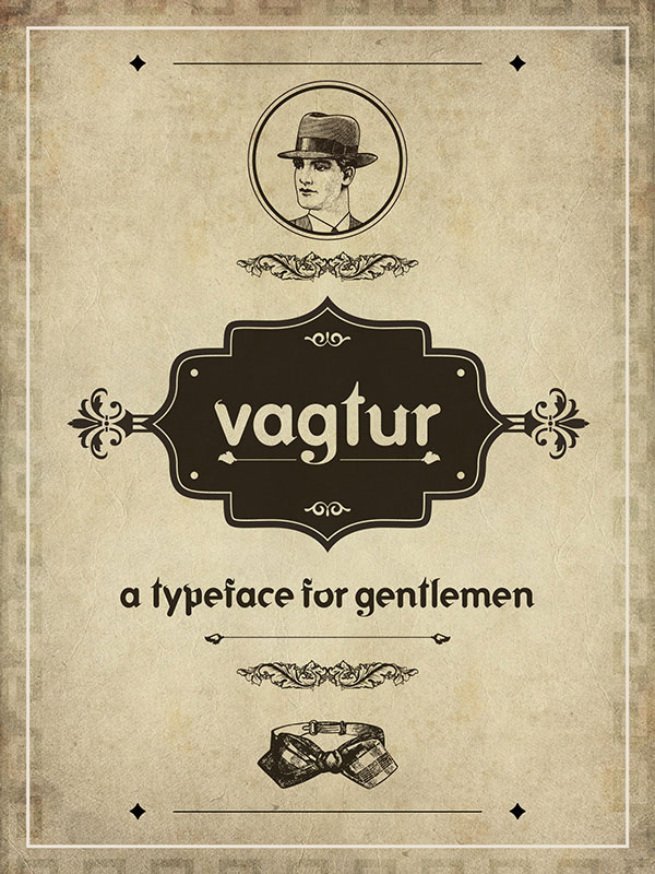 1.Free Font Of The Day  Vagtur