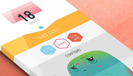 Mobile App Design Inspiration – Period Tracker | Designbeep