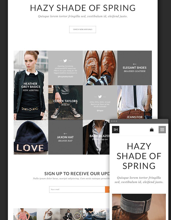 1.Online Store Theme PSD