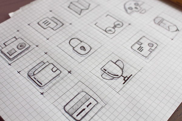 1.Wireframe Icons