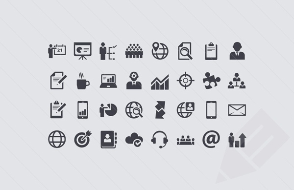1.free business icon set