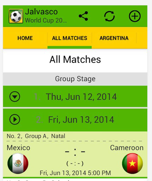 12 Best Free World Cup Apps (iOS – Android) | Designbeep