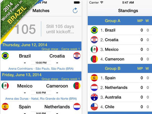 10.world cup apps