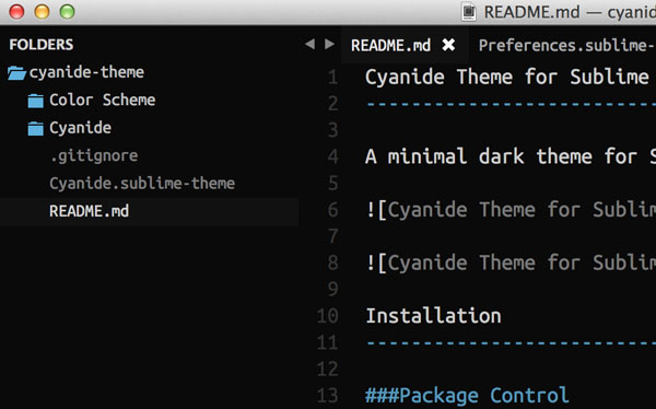 13.sublime text themes
